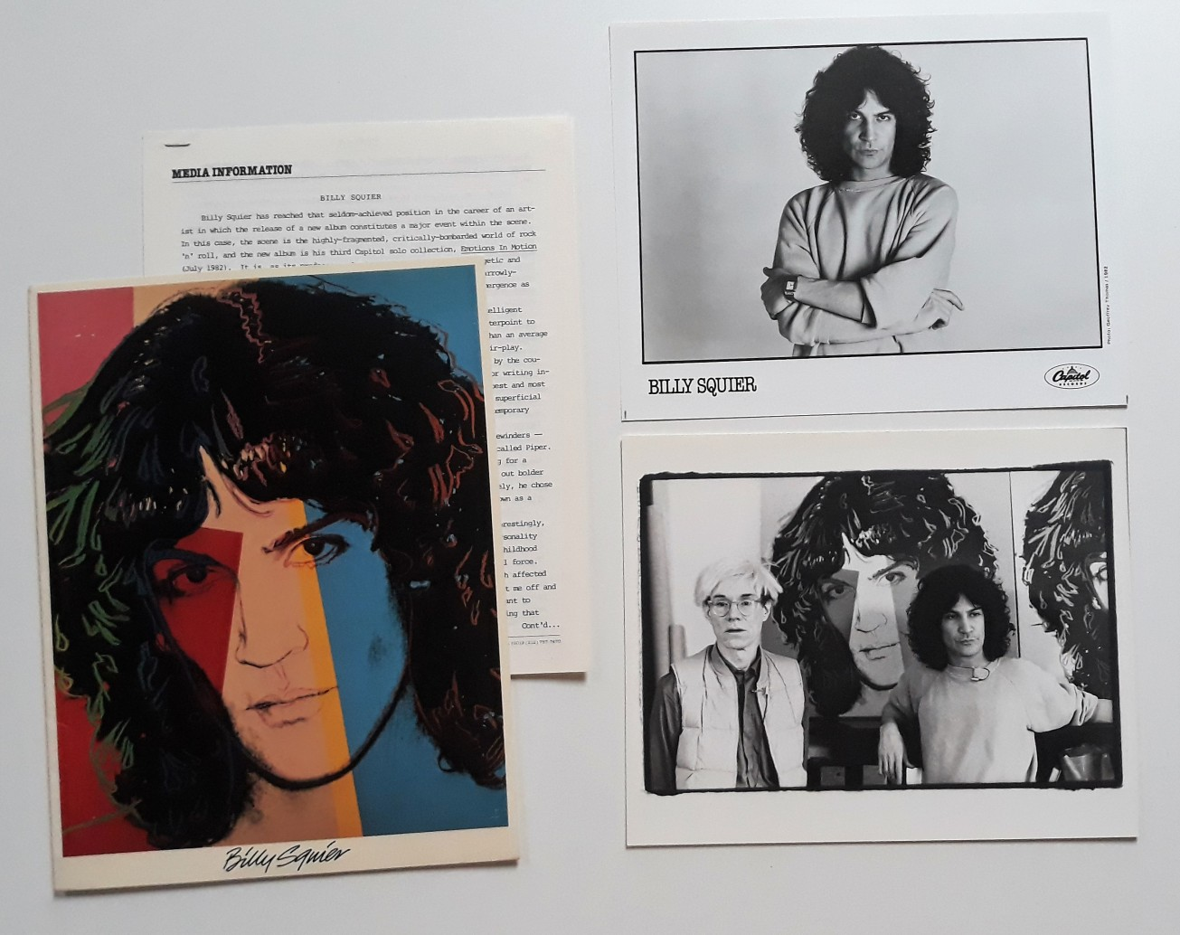 1982 Billy Squier 3 Emotions in Motion - Press folder